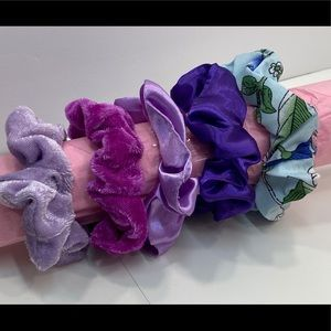 Scrunchies set of 5 shades of purple